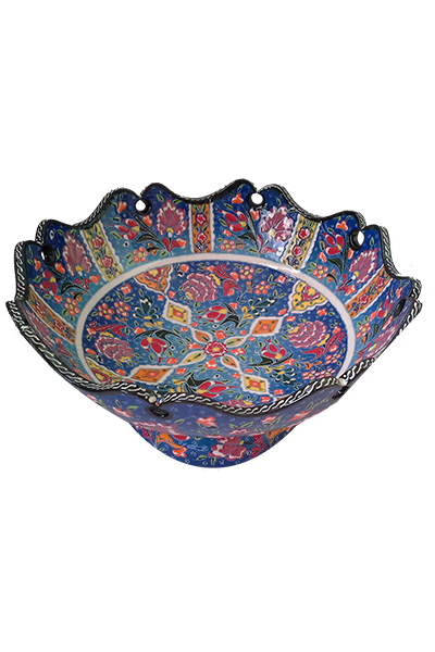 Relief Footed Bowl - 25 cm
