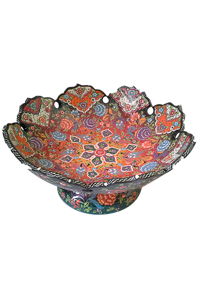 Relief Footed Bowl - 35 cm