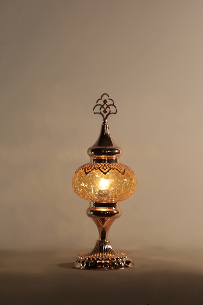 No.3 Size Rose Gold Ottoman Design Table Lamp