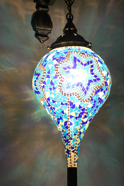 Long Bullet Glass Antique Mosaic Wall Lamp