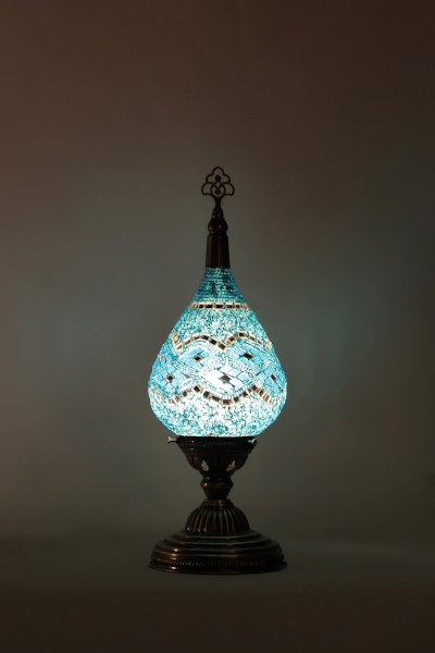 Small Drawn Glass Mosaic Table Lamp