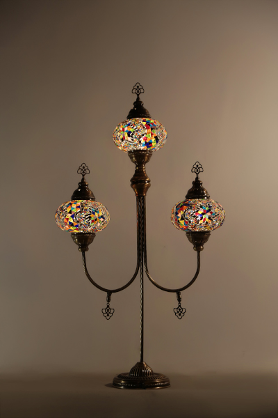 3in1 No3 Size Poseidon Spear Mosaic Floor Lamp