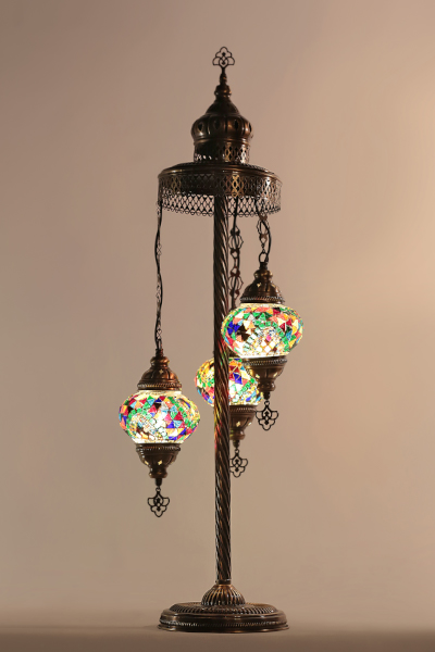 3in1 No2 Size Antique Mosaic Floor Lamp