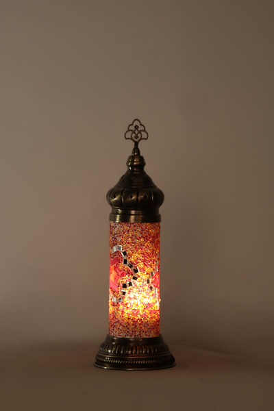 No.1 Size Short Cylinder Mosaic Table Lamp