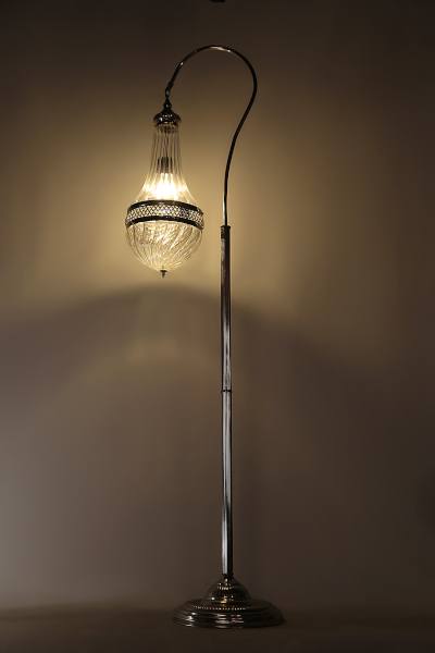 Pyrex Glass Swan Neck Floor Lamp Model 1