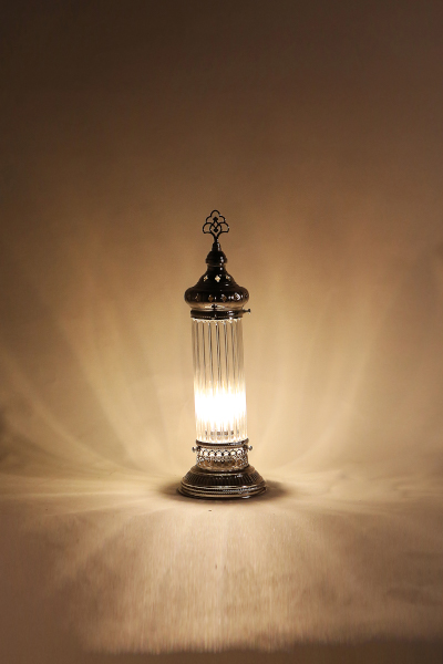 Pyrex Glass Cylinder Design Table Lamp