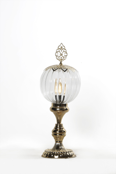 Pyrex Glass Gold Design Table Lamp