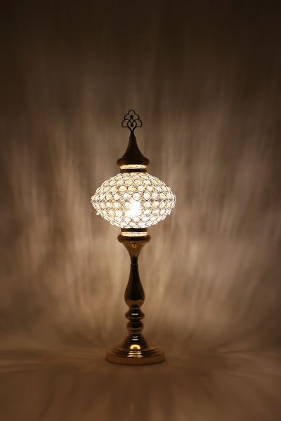 No.5 Size Crystal Stony Design Table Lamp