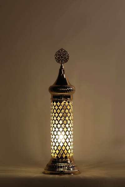 Gold Design Blown Glass Table Lamp