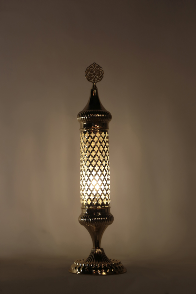 Gold Design Long Blown Glass Table Lamp