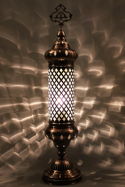 No.3 Size Long Blown Glass Table Lamp