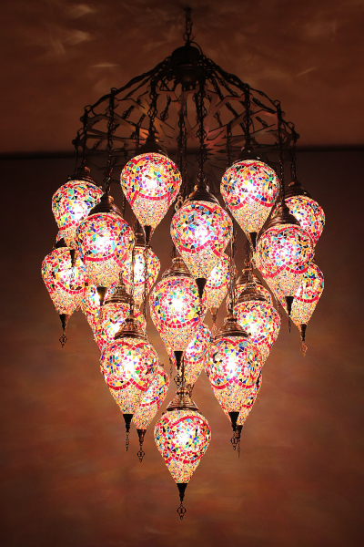 25in1 Bullet Glass Mosaic Laser Chandelier