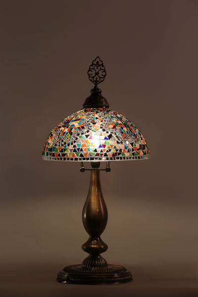 Antique Mosaic Tiffany Table Lamp